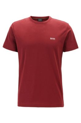 T-Shirt mit Kontrast-Detail, Rot