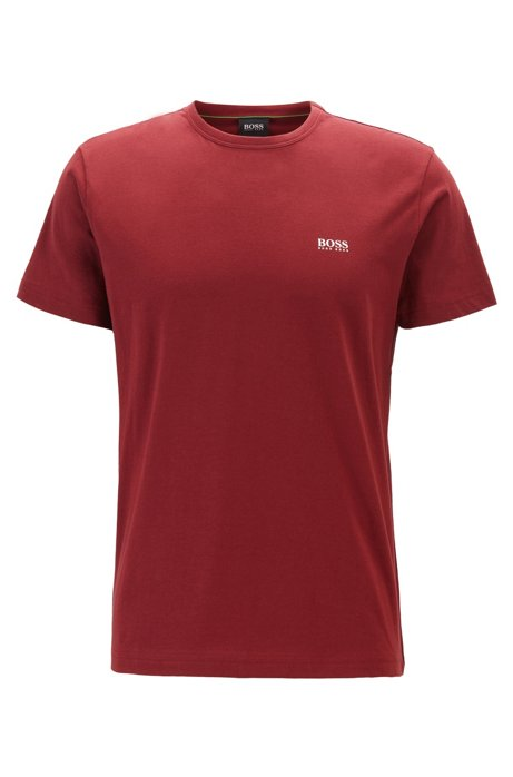 Regular-fit T-shirt with contrast detail, Red