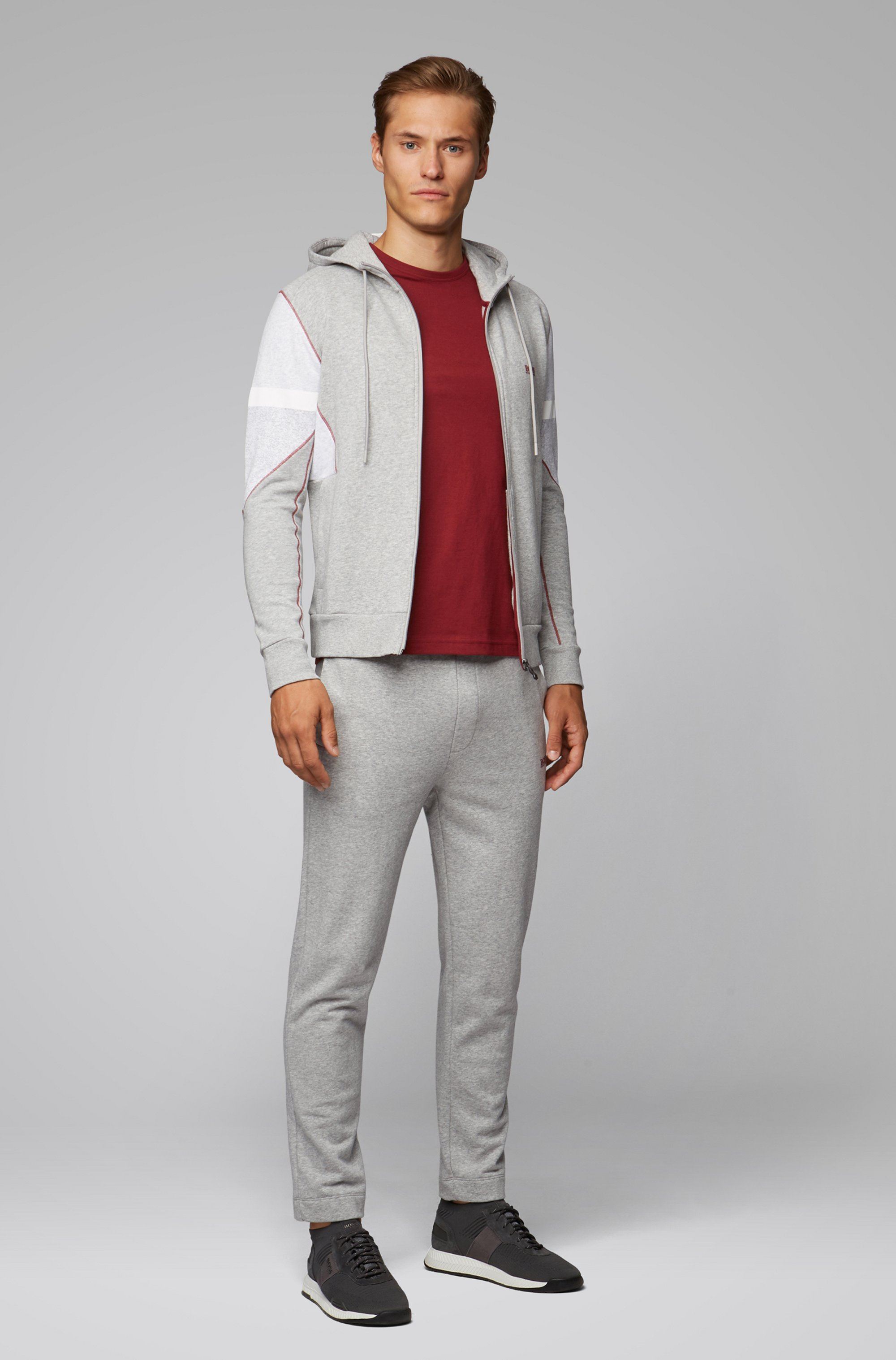 Regular-fit T-shirt met contrastdetail