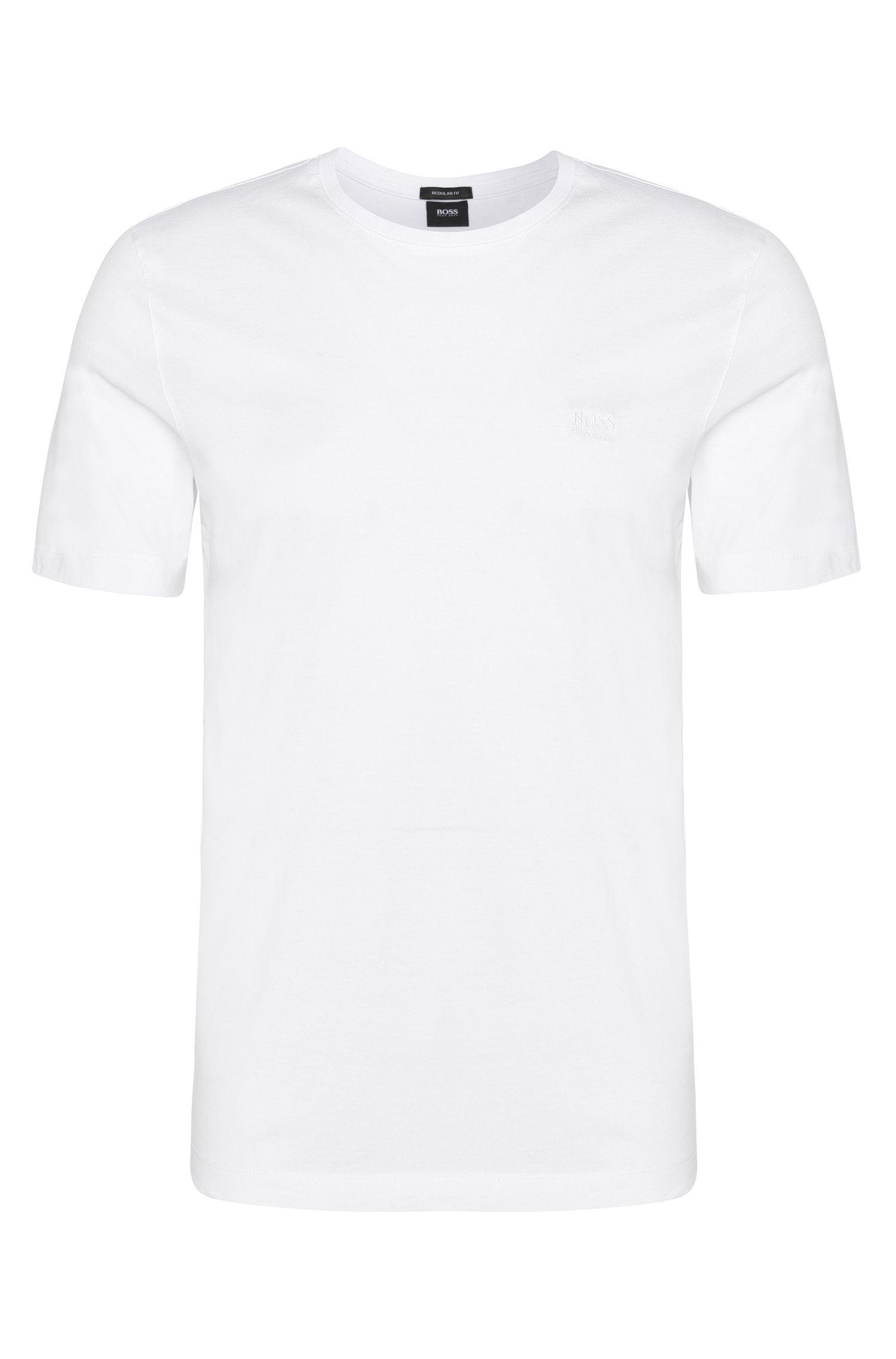 Regular-fit T-shirt van katoen in duopak: 'Twins 01'