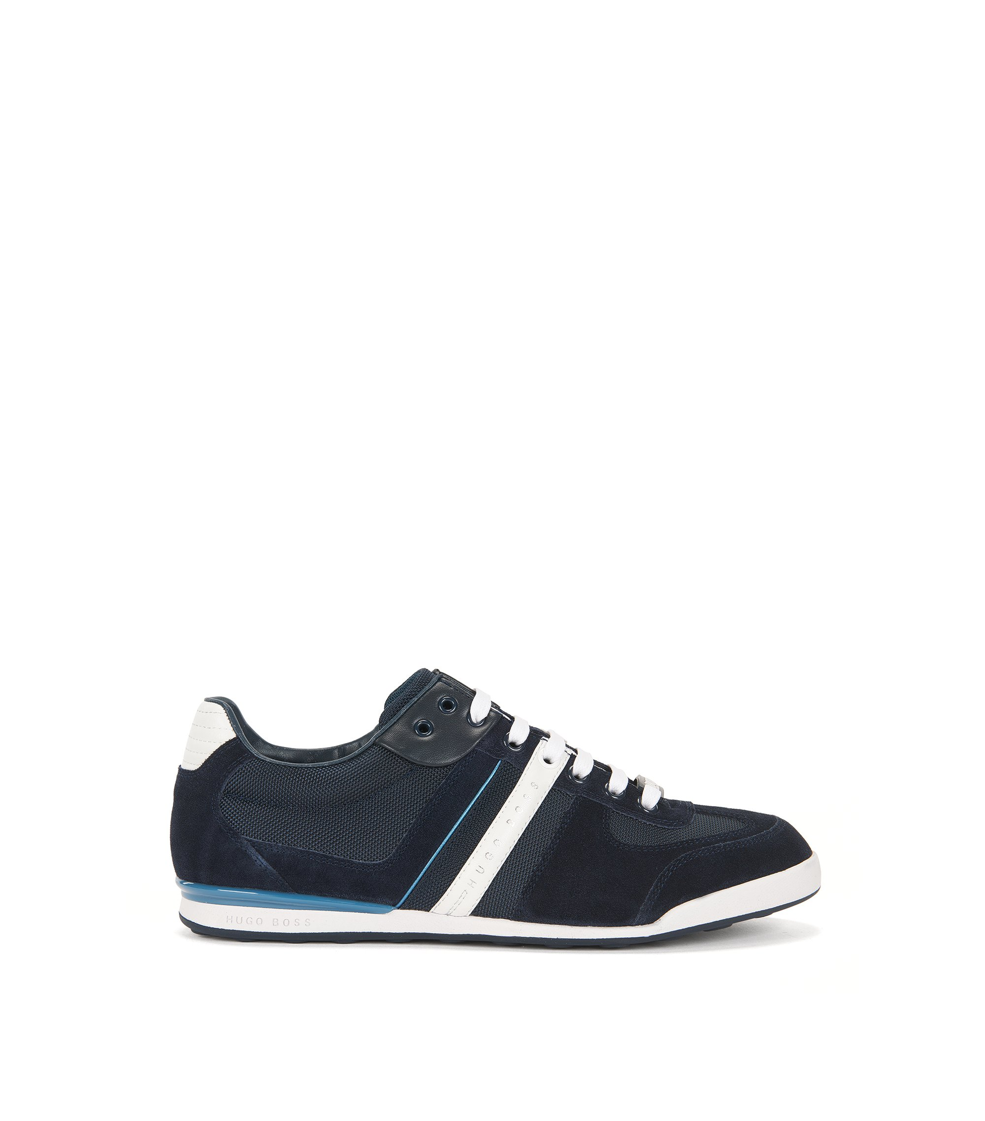 Low-profile sneakers with technical construction, Dark Blue