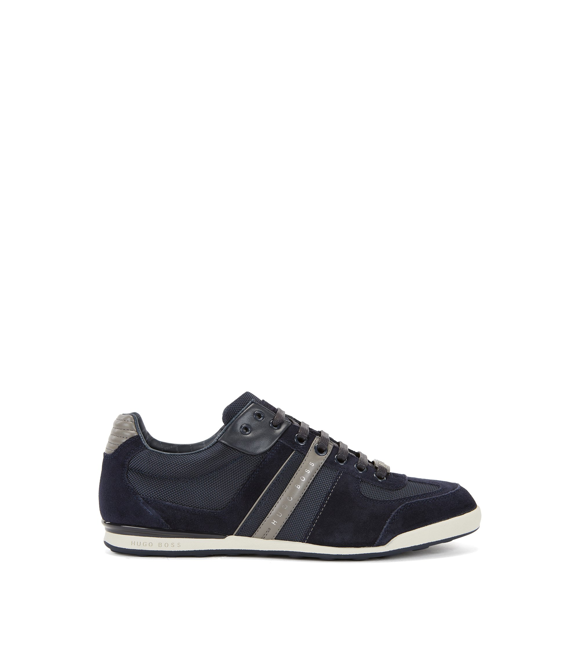 Low-profile sneakers with technical construction, Blue