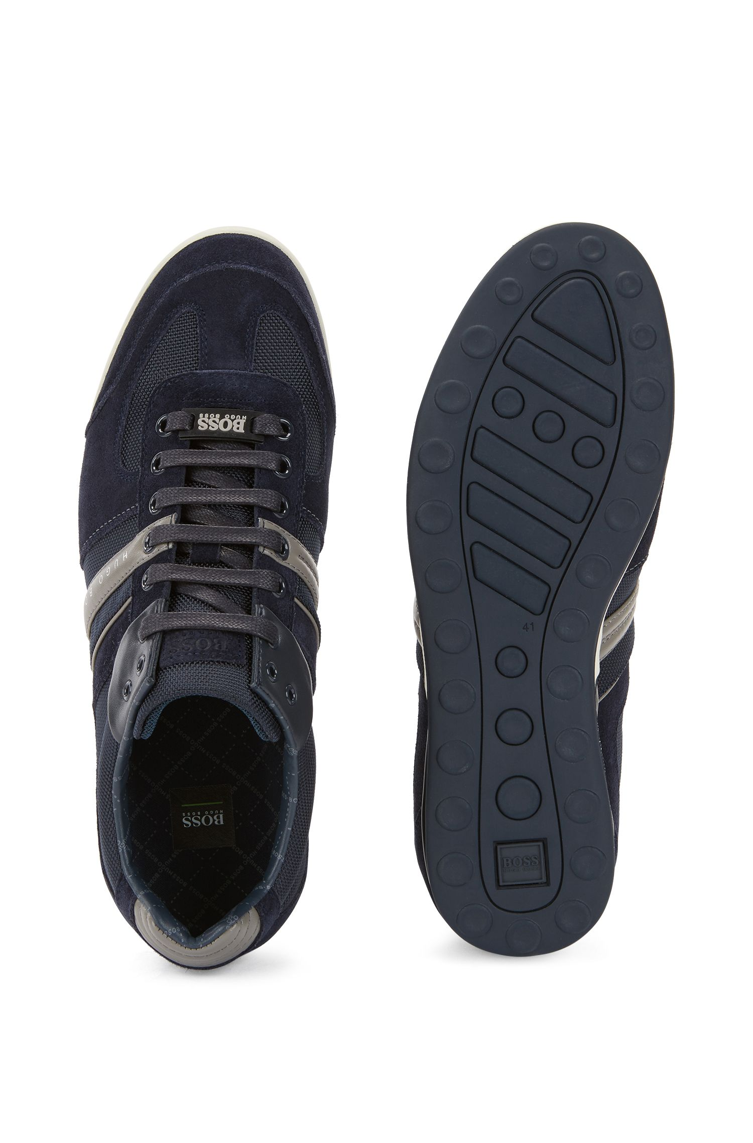 Schlichte Sneakers mit Hightech-Konstruktion, Blau