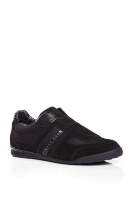 Sneakers aus Veloursleder mit Nylon-Partien: ´AKEEN I`, Schwarz