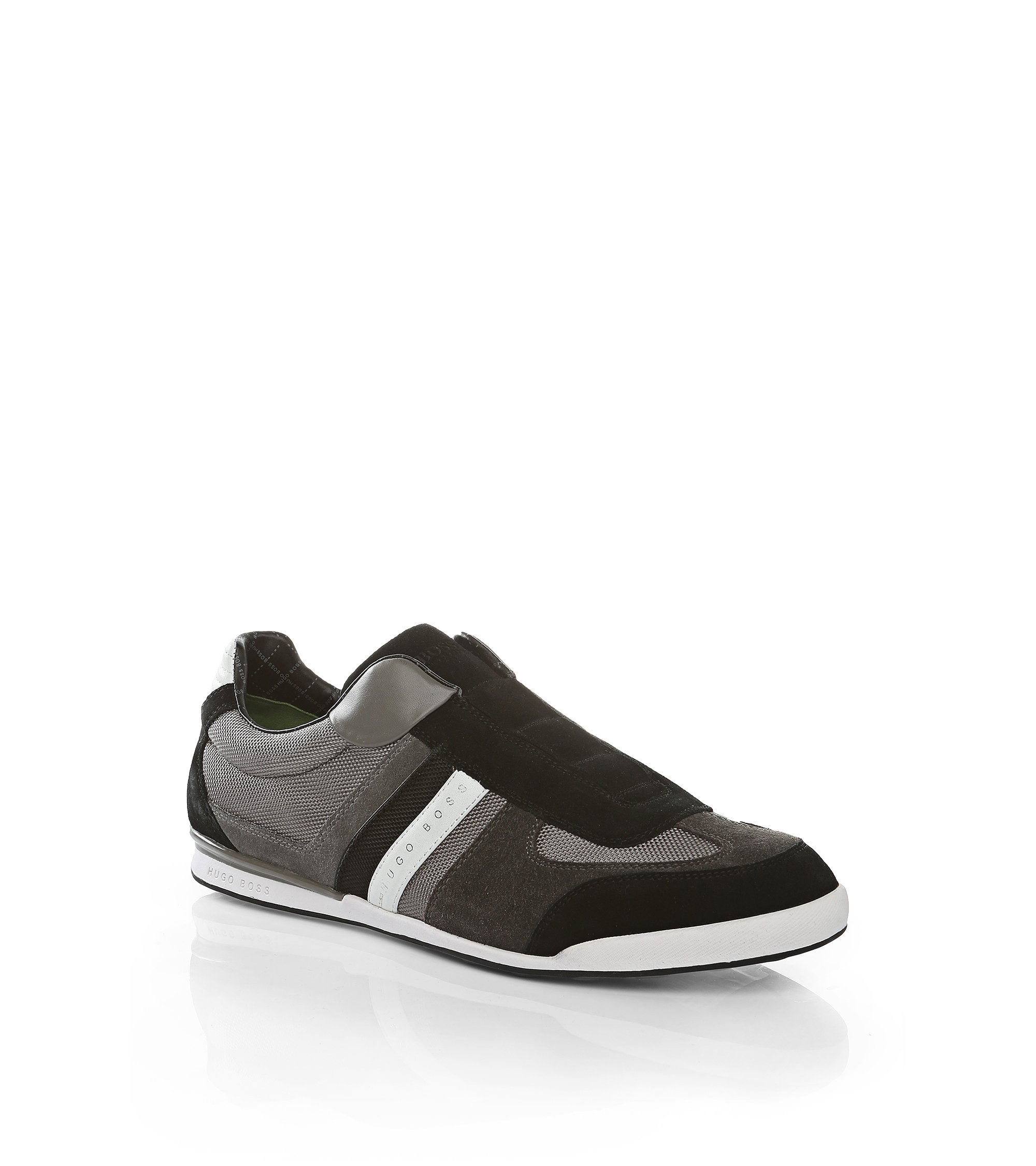 Trainers in suede with nylon sections: 'AKEEN I', Grey