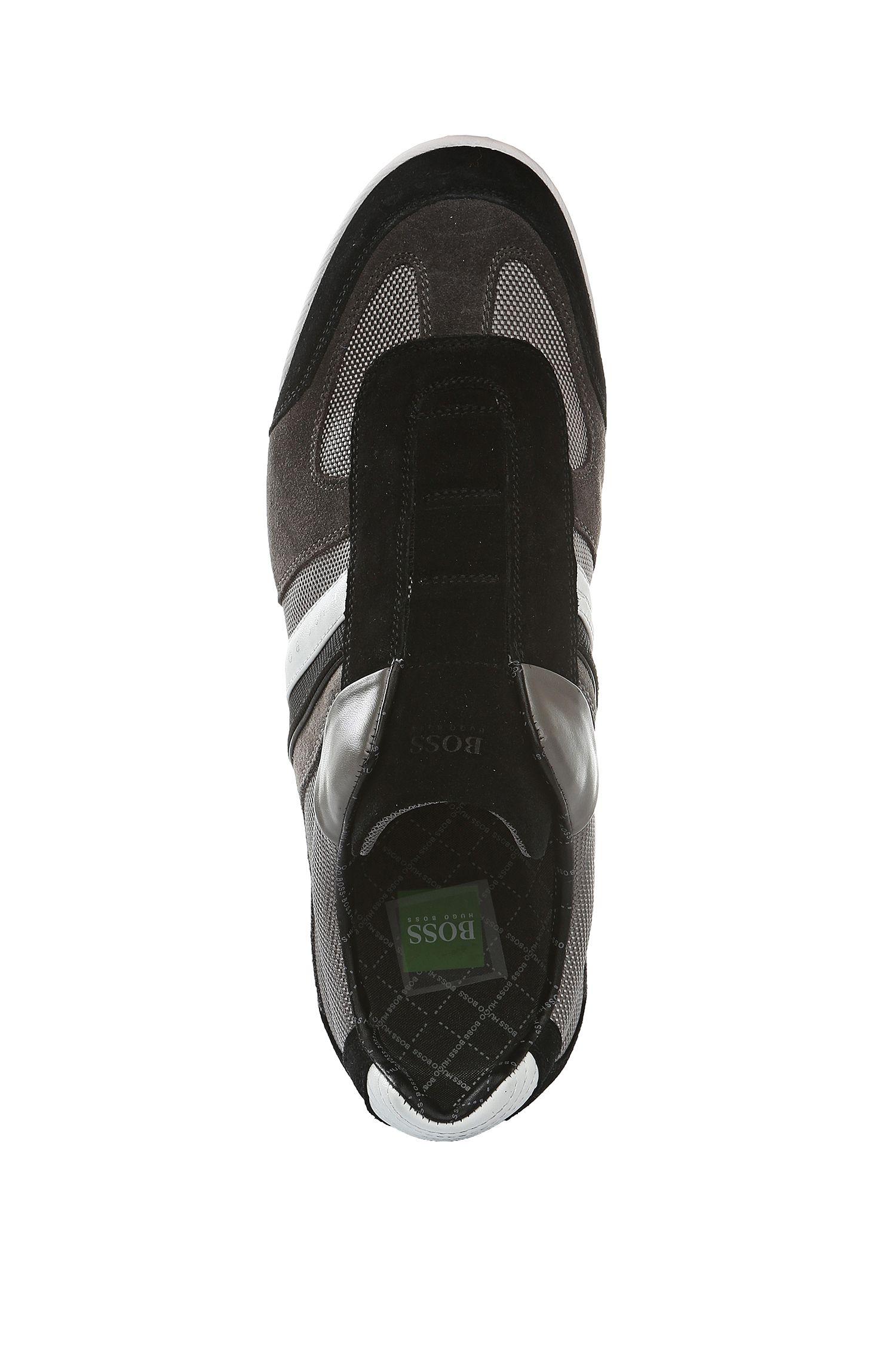 Sneakers aus Veloursleder mit Nylon-Partien: ´AKEEN I`, Grau
