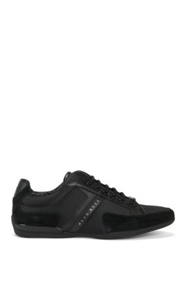 Mirage Burnished-leather Sneakers - NavyHUGO BOSS 9DxYhuYs