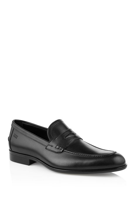 Leather loafers 'Bront', Black