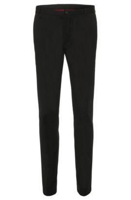 Chino Extra Slim Fit en coton stretch: «Heldor1», Noir