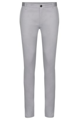 Chino Extra Slim Fit en coton stretch : « Heldor1 », Gris
