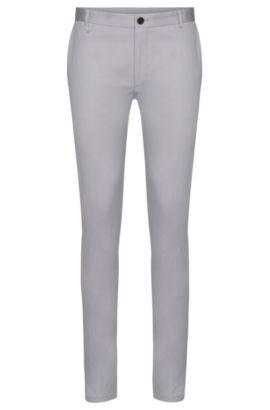 Extra Slim-Fit Chino aus Stretch-Baumwolle: 'Heldor1', Grau