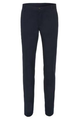 Extra slim-fit chinos in stretch cotton: 'Heldor1', Dark Blue