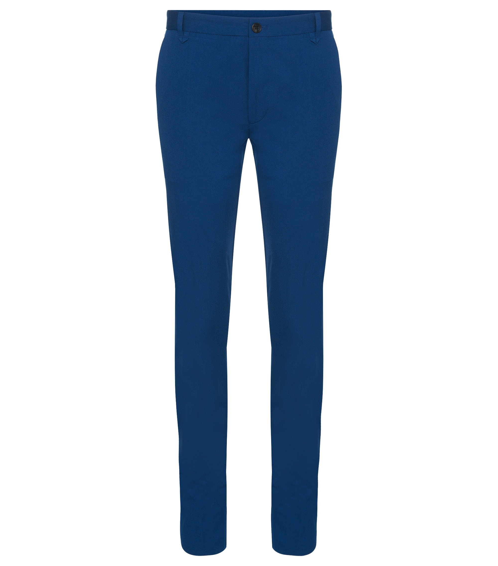 Chino Extra Slim Fit en coton stretch: «Heldor1», Bleu