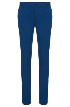 Chino Extra Slim Fit en coton stretch : « Heldor1 », Bleu