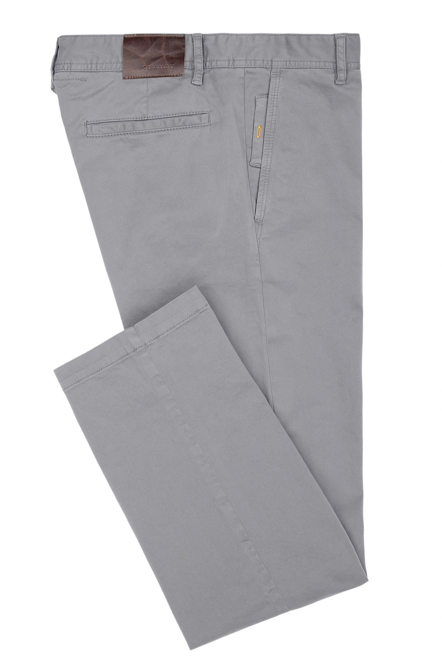 Chino regular fit in cotone elasticizzato spazzolato