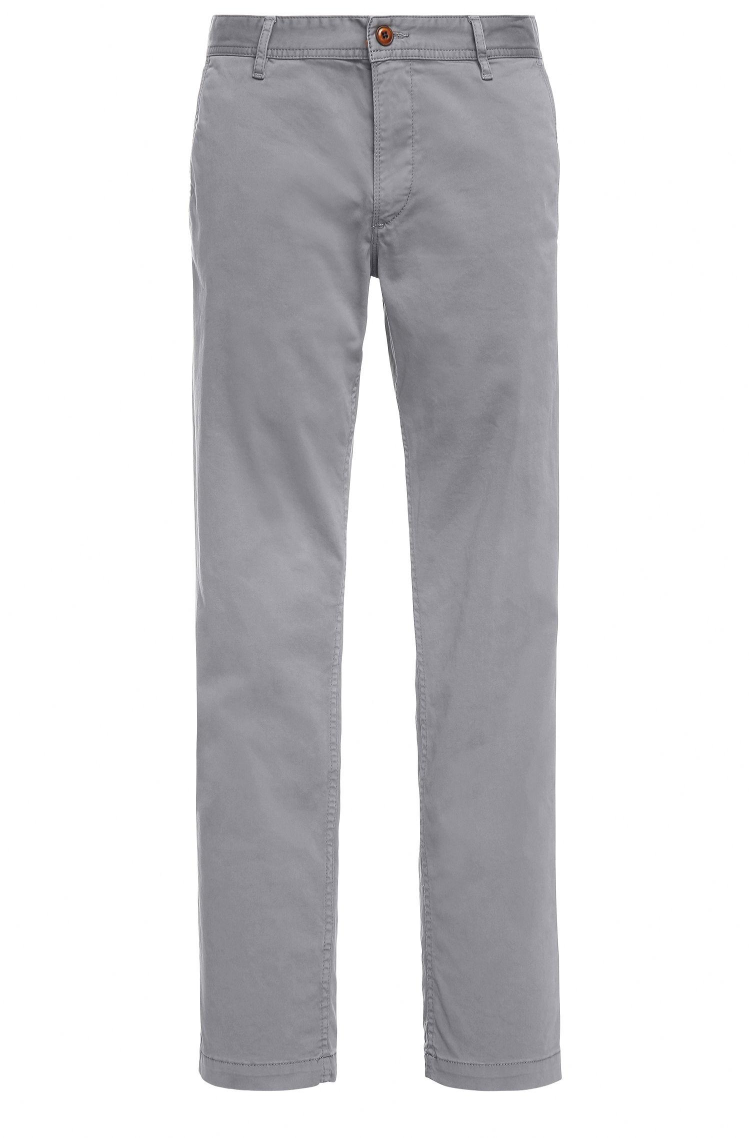 Chino Regular Fit en coton stretch brossé