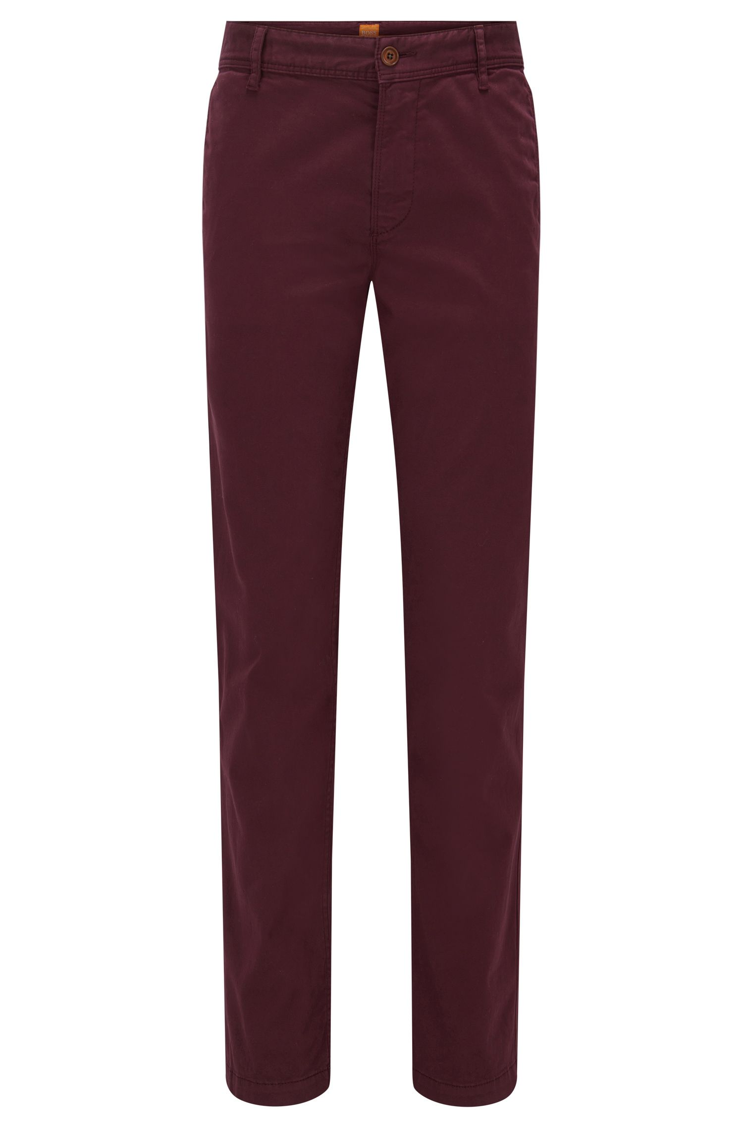 Chino Regular Fit en coton stretch brossé