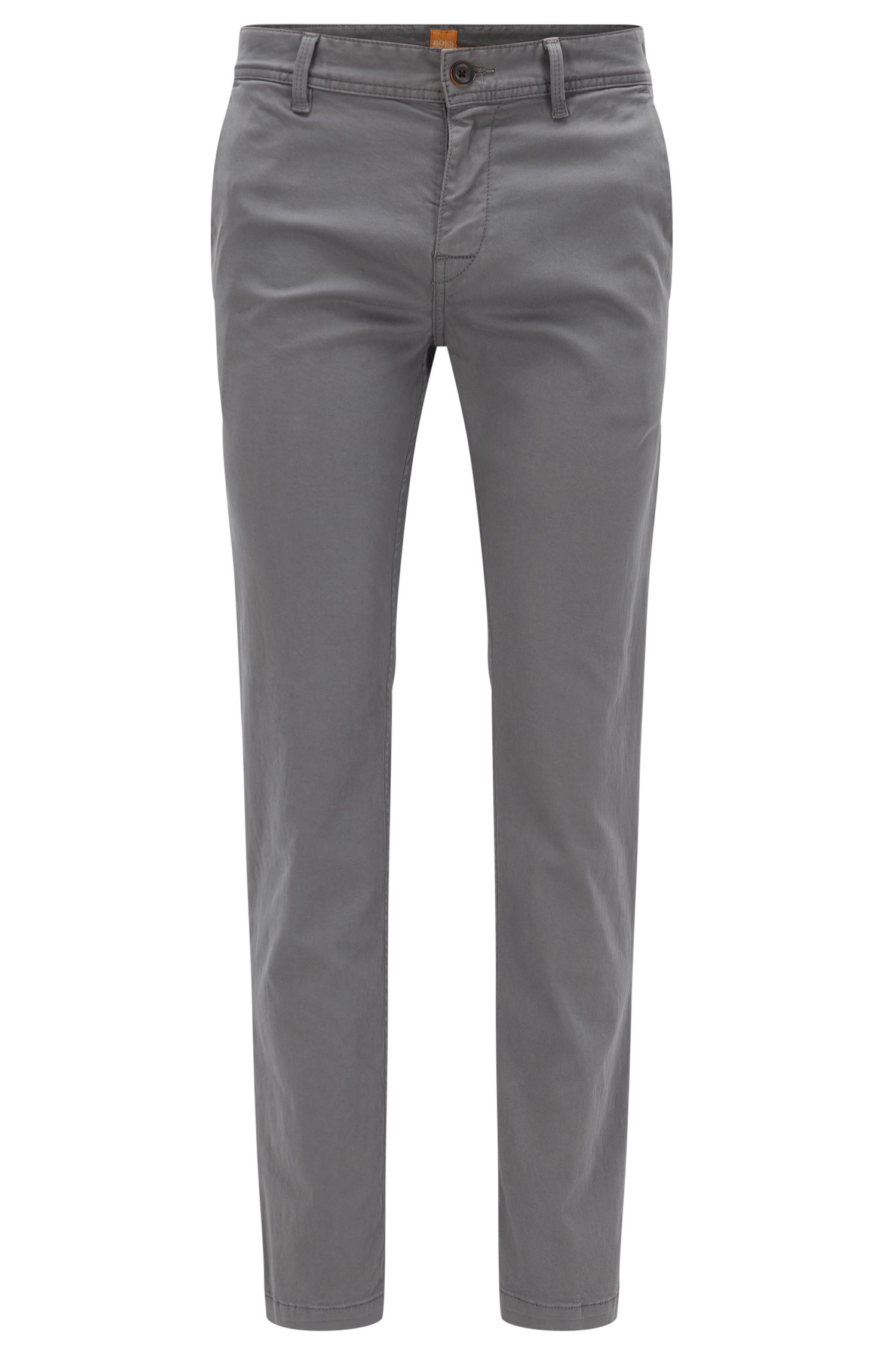 Slim-Fit Chino aus angerauter Stretch-Baumwolle