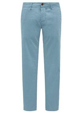 Slim-Fit Chino aus angerauter Stretch-Baumwolle, Hellblau