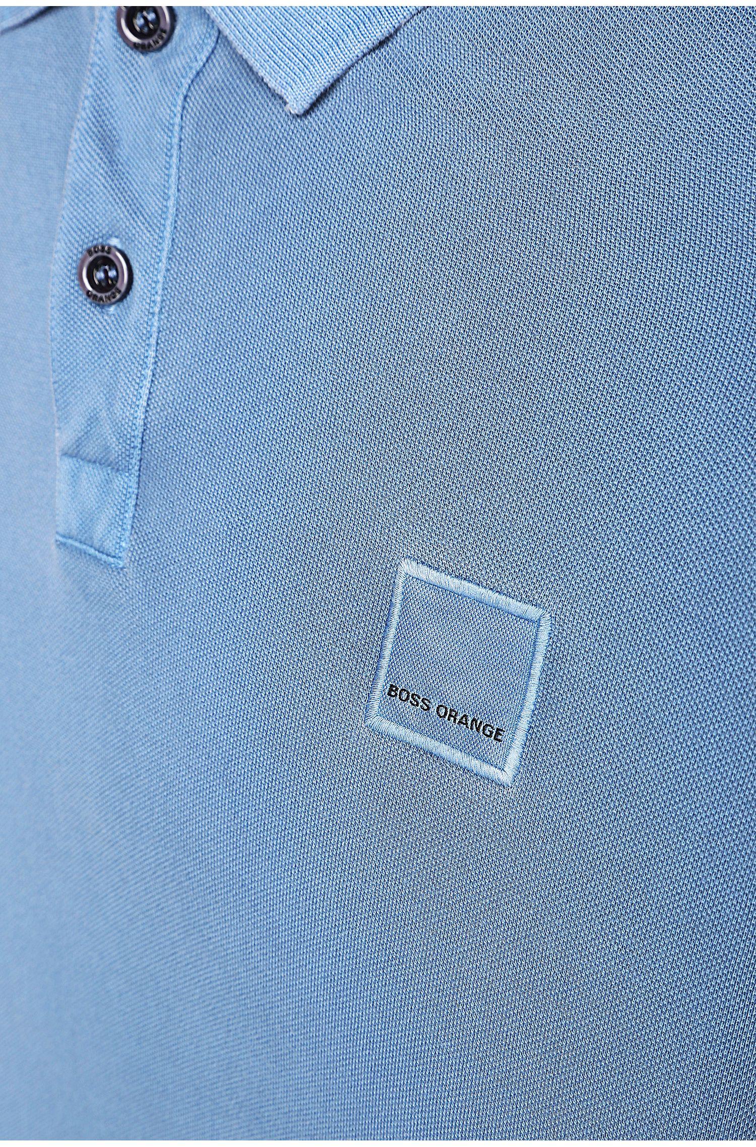 Polo Slim Fit en coton lavé