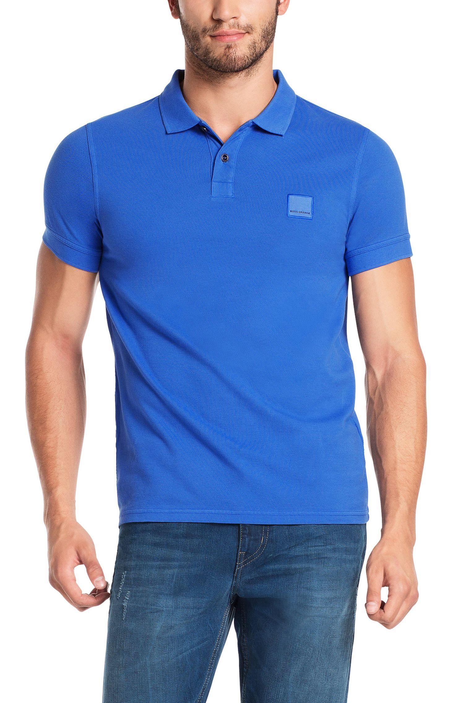 Slim-Fit Poloshirt aus gewaschener Baumwolle von BOSS Orange