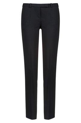 Regular-fit melange chiffon trousers bonded with jersey BOSS ZiJft