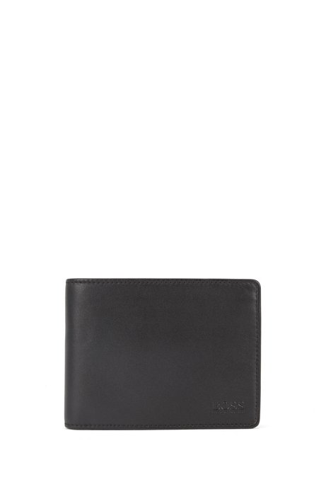 b94a5baa3e2 BOSS - Trifold wallet in smooth leather