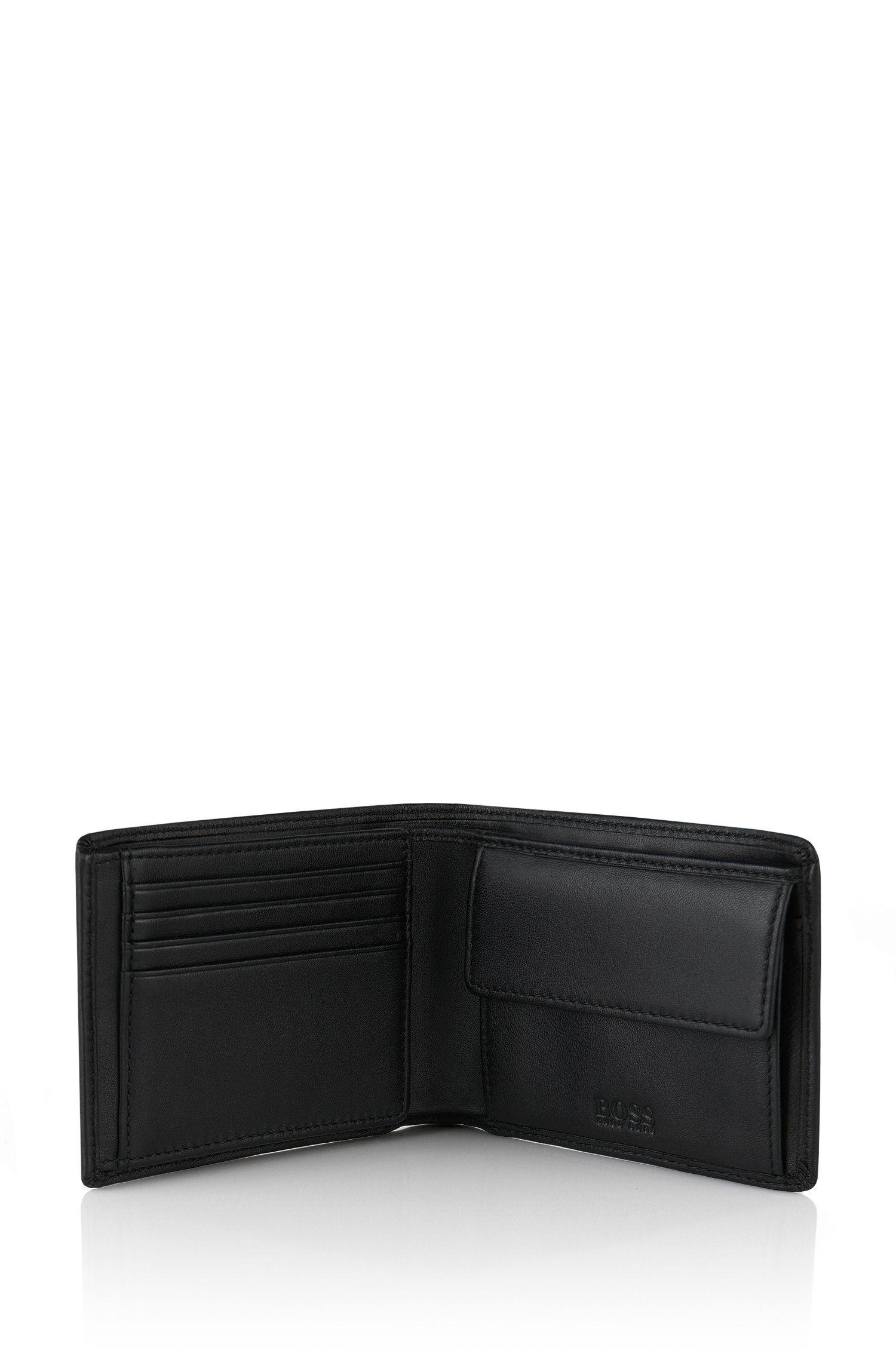 Klapp-Geldbörse aus Glattleder