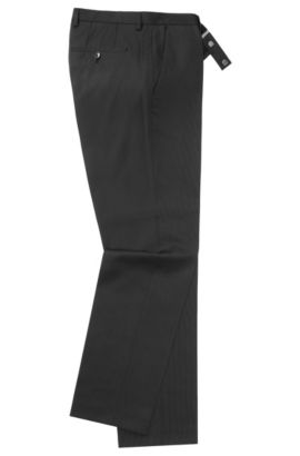 Pantalon Regular Fit en laine vierge : « Shout », Noir