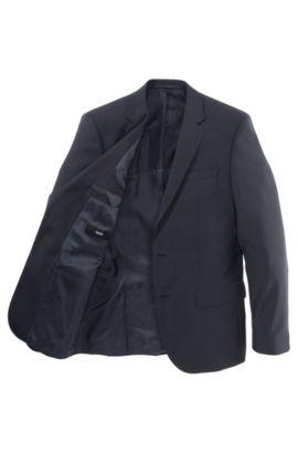 Veste de costume Slim Fit «Hayes» en laine vierge, Bleu foncé