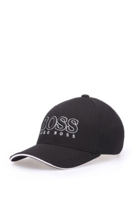 Baseball Cap aus Material-Mix, Schwarz