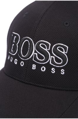 27b48276 BOSS - Baseball cap in technical piqué