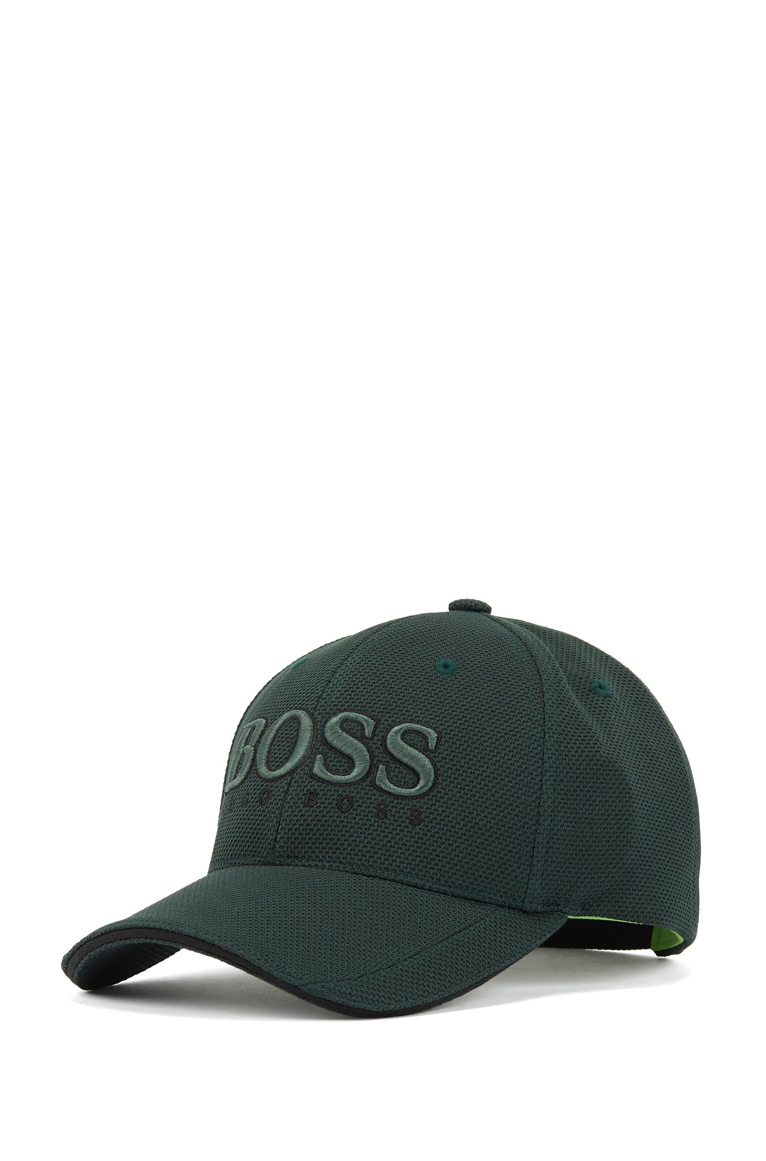 Baseball cap in technical piqué , Dark Green