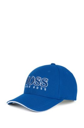 Baseball cap in technical piqué , Blue