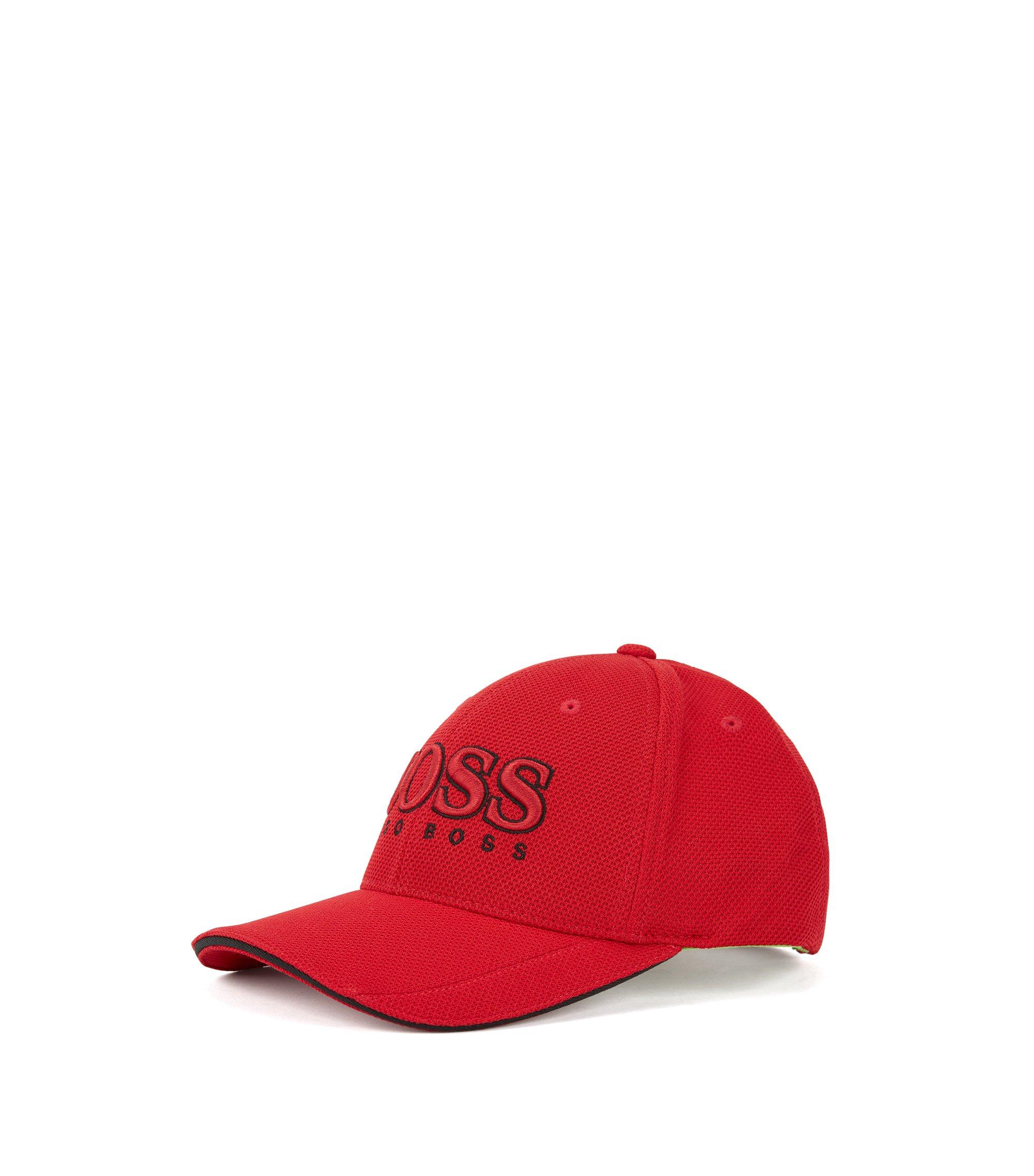 Baseball cap in technical piqué , Dark Red