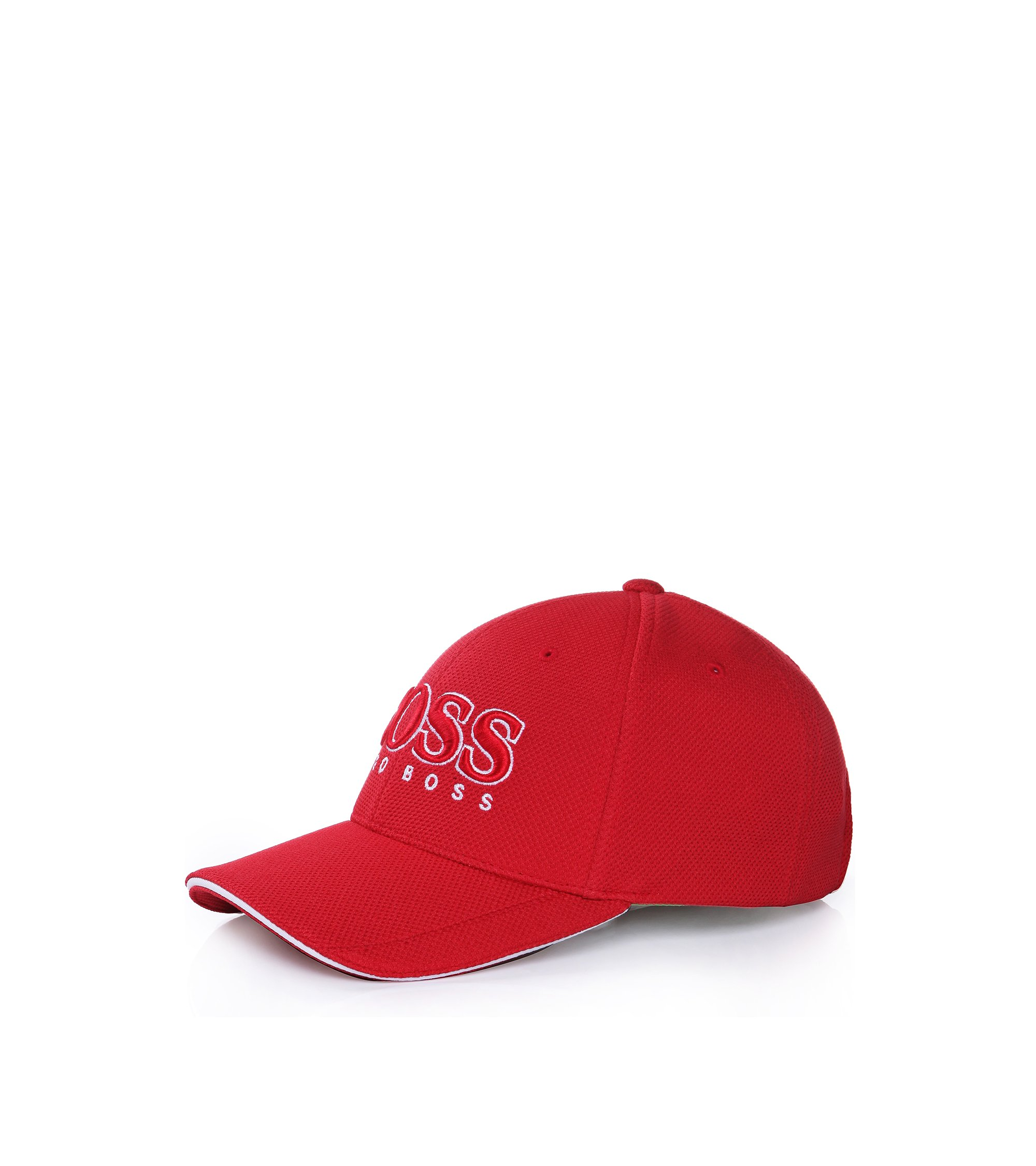 Baseball cap in technical piqué , Red