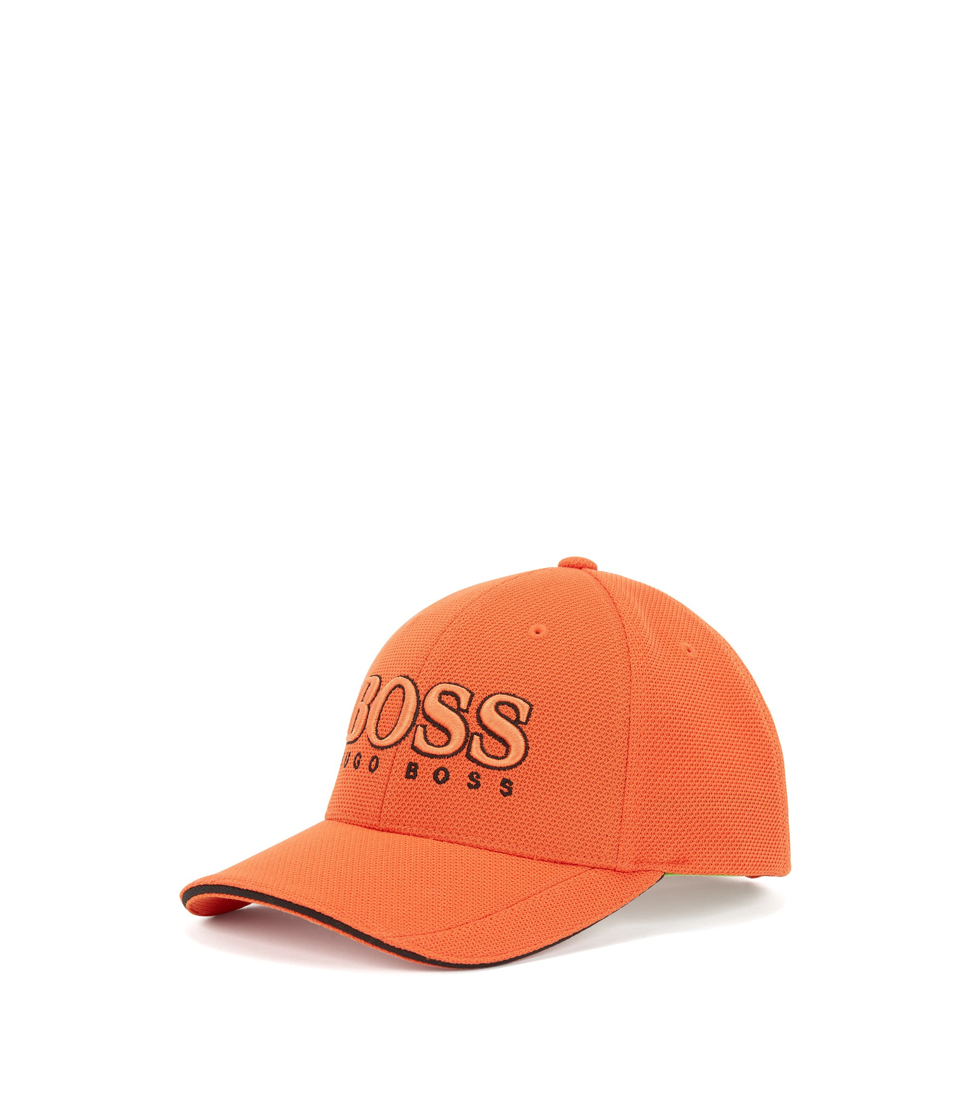 Cap aus Material-Mix, Orange