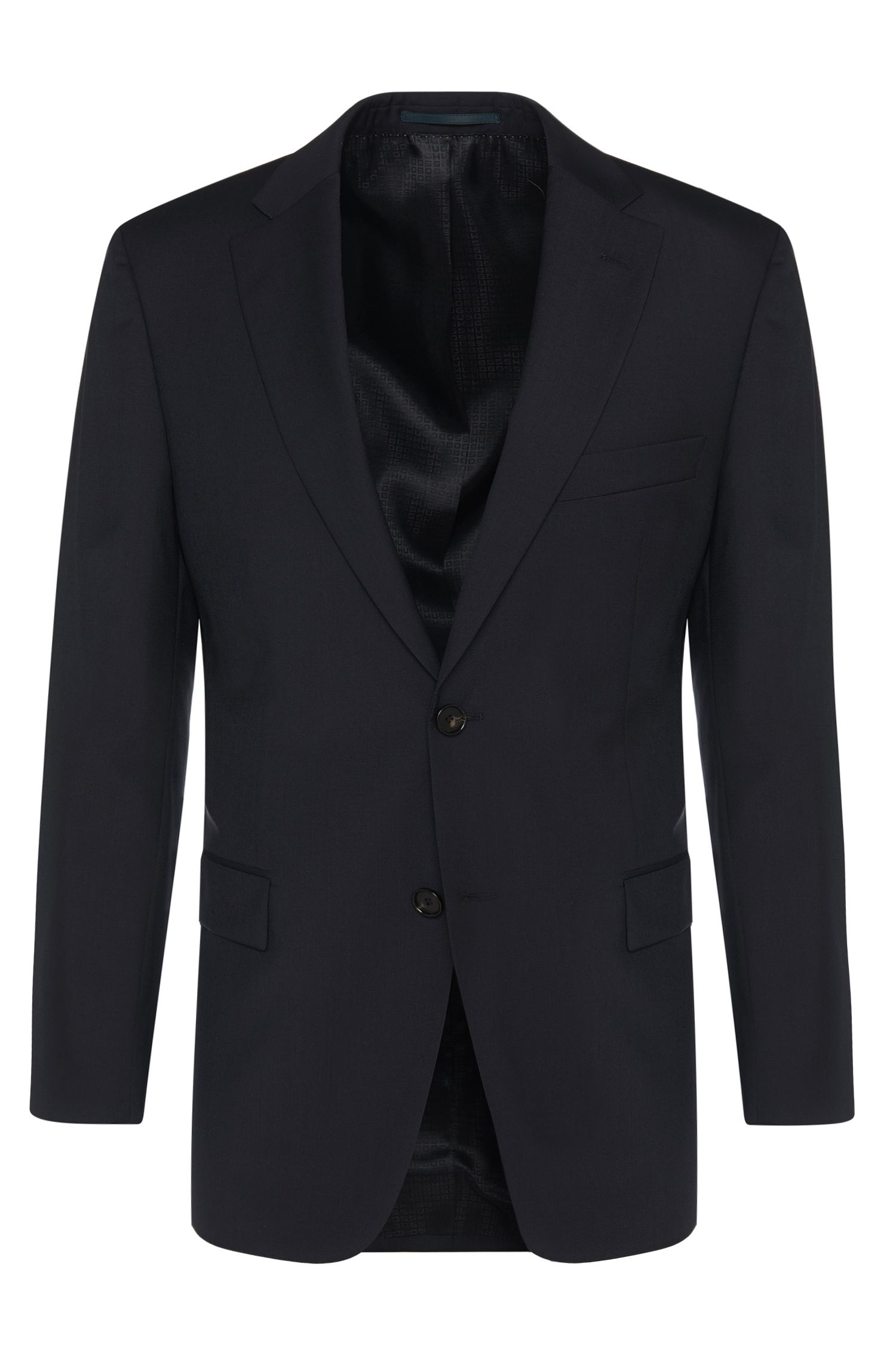 Comfort-fit jacket in pure new wool: 'Pacini'