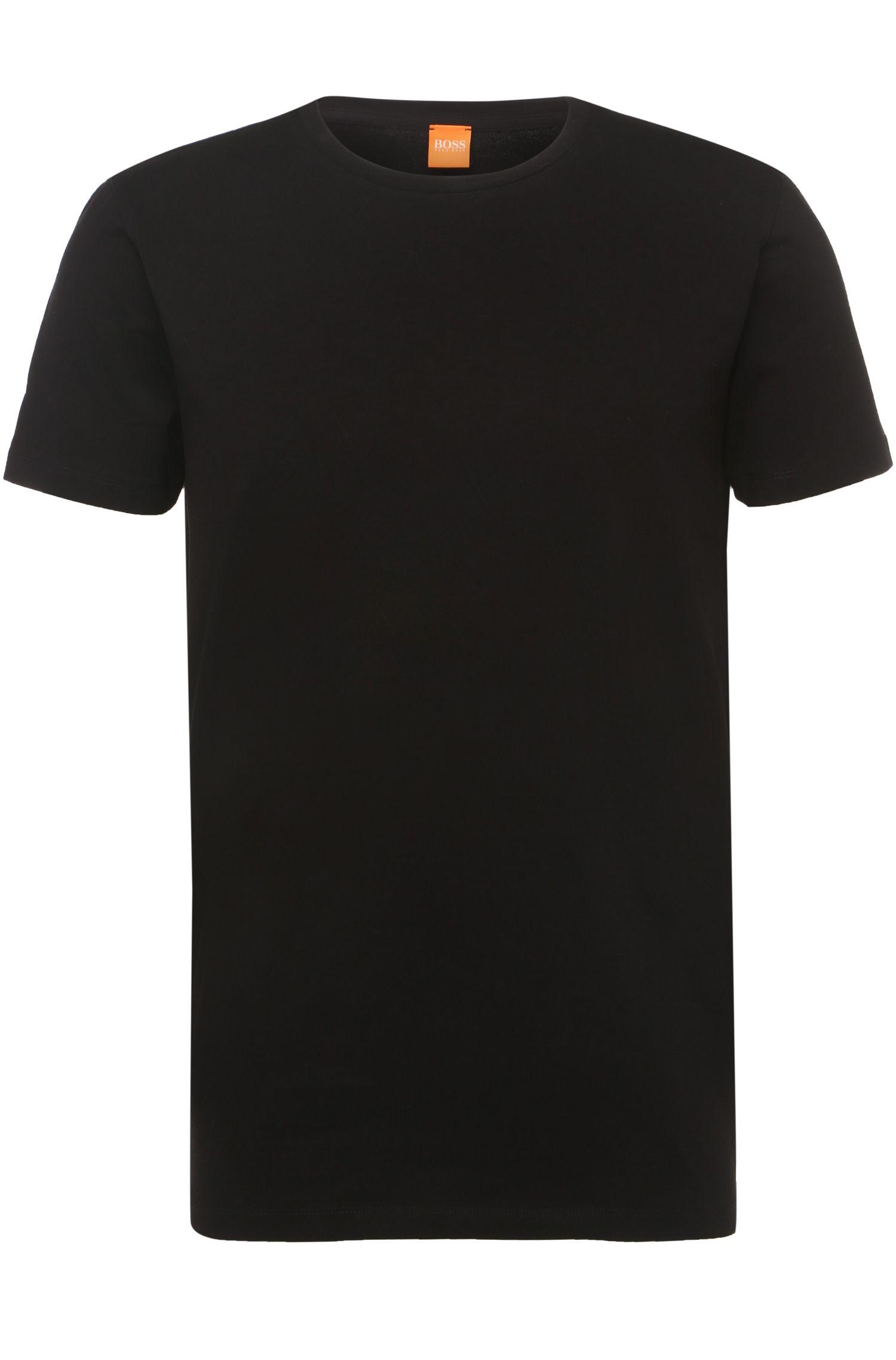 T-Shirt aus elastischem Baumwoll-Mix im Doppelpack: ´Tedd`