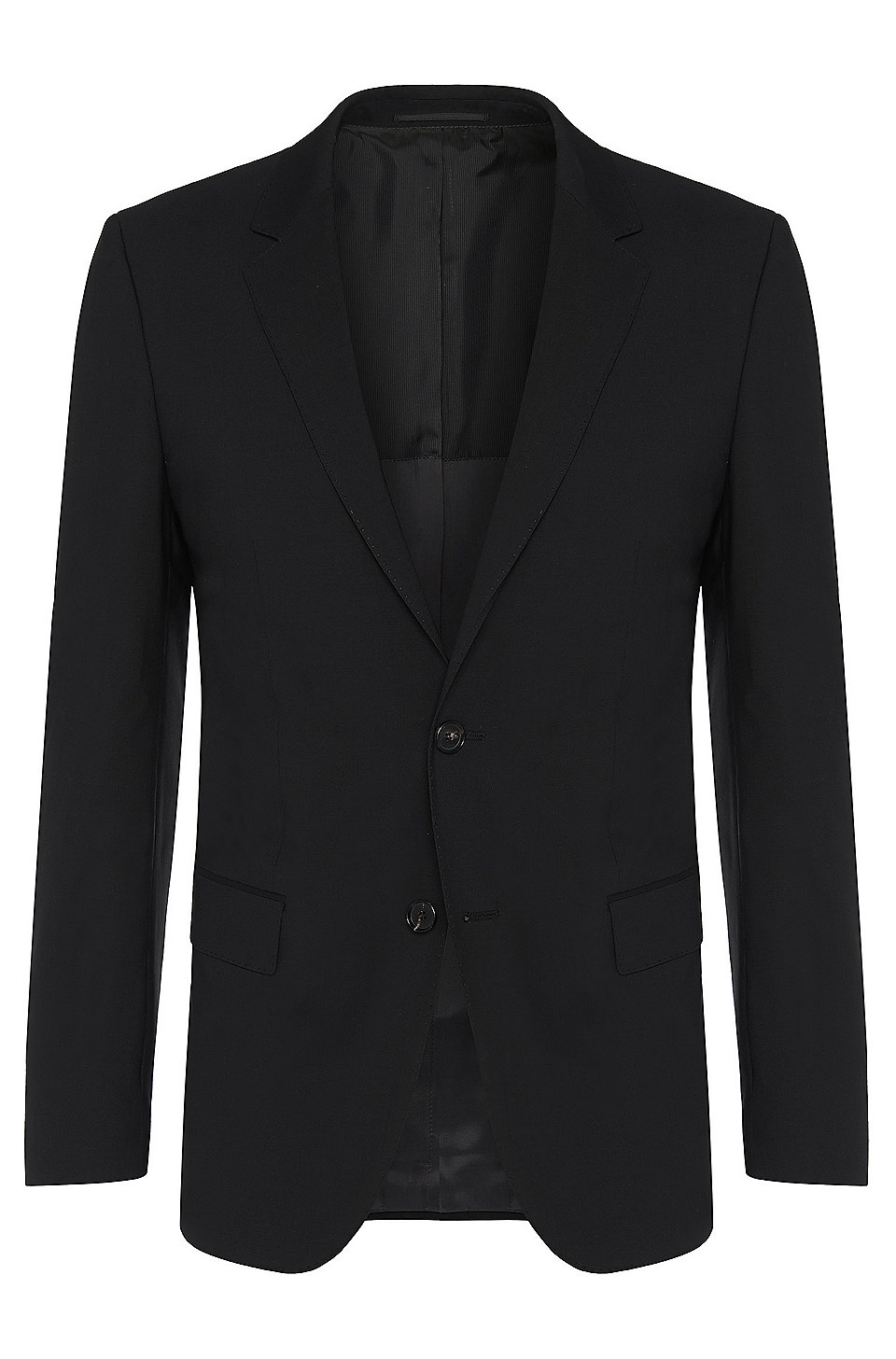 36e7c8e5 BOSS - Slim-fit jacket in new-wool blend with elastane: 'Hayes'
