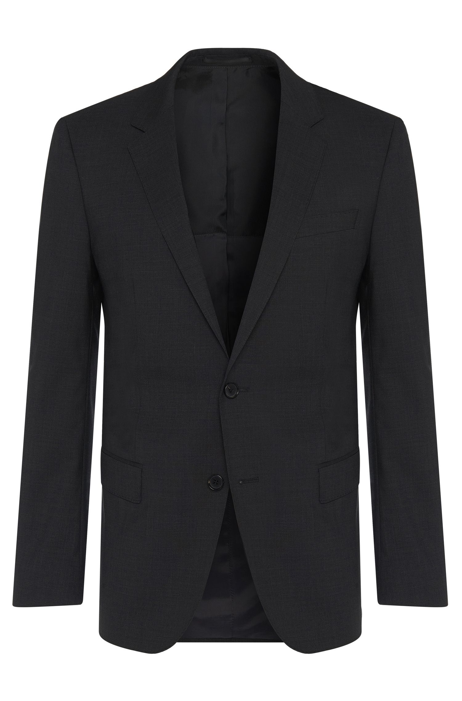 Slim-fit jacket in new-wool blend with elastane: 'Hayes'