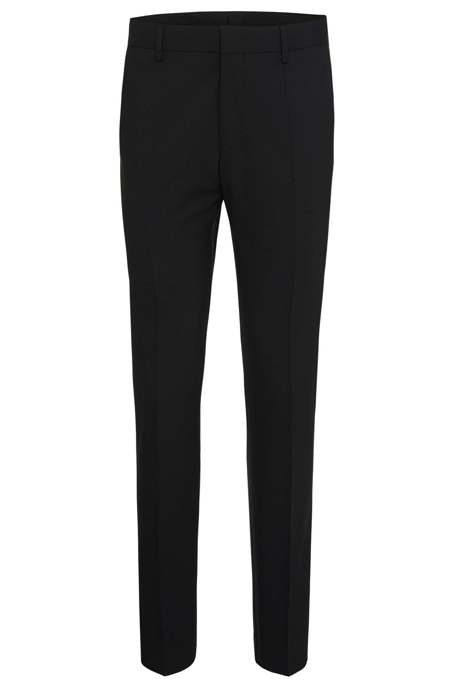 Regular-fit trousers in stretchy new wool: 'Gibson'