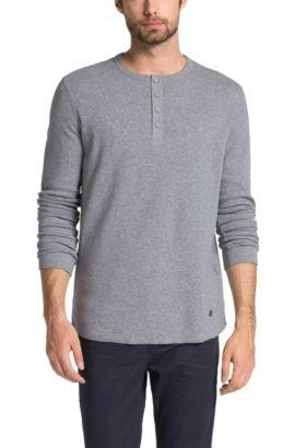 T-shirt à manches longues, coton mélangé, Trukk, Gris chiné