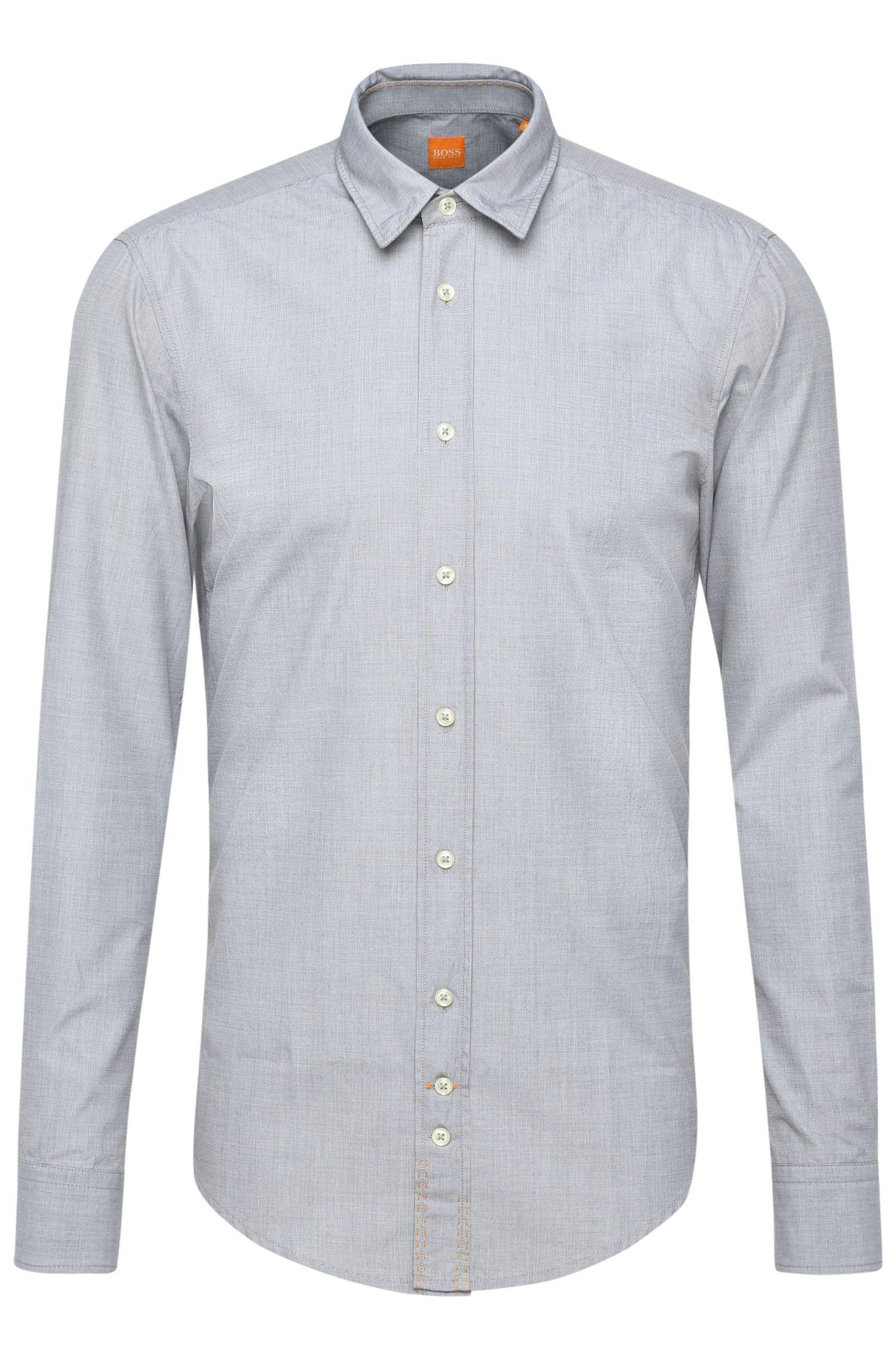 Camisa regular fit de algodón lavado
