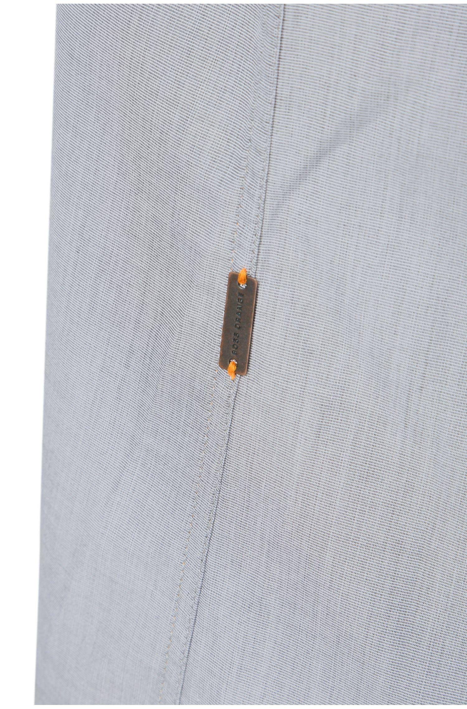 Regular-fit overhemd van gewassen katoen