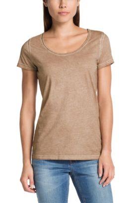 T-Shirt ´Tahiras` aus Baumwolle, Beige