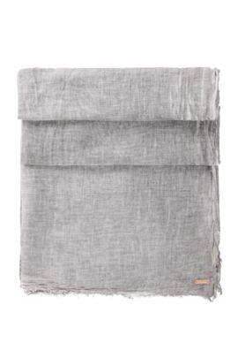 Unifarbenes Tuch aus Baumwolle: ´Nubasica 1`, Grau