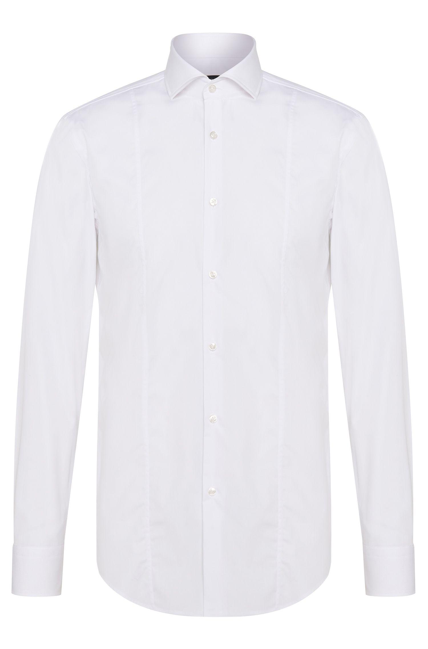 Camisa slim fit en puro algodón: 'Philip'