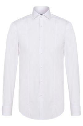 Camisa slim fit en puro algodón: 'Philip', Blanco