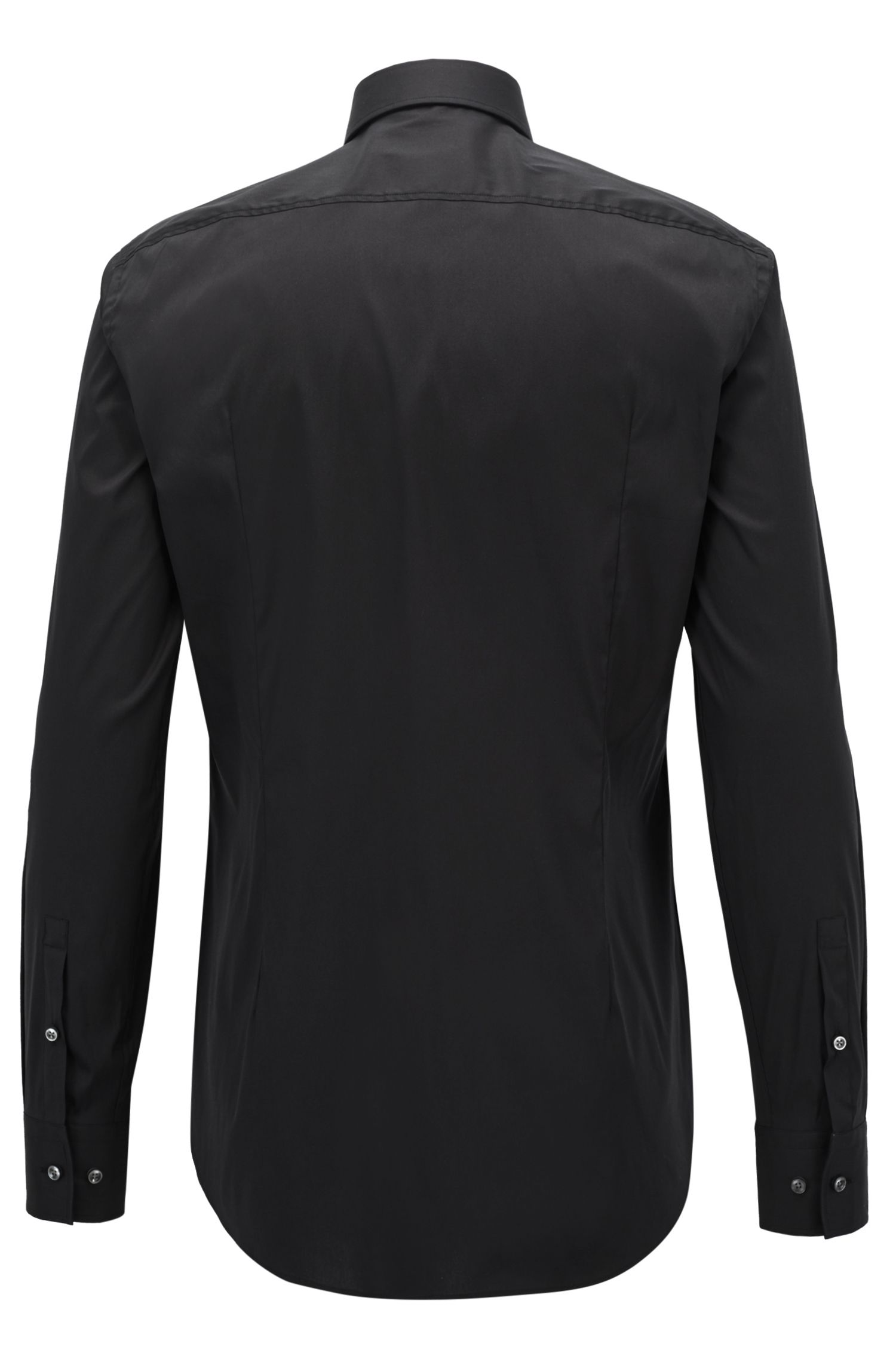 Slim-fit overhemd van popeline met stretch